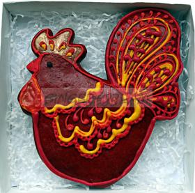 Петушок | Новогодний подарок | Пряники на заказ | Золотой Гребешок | Символ года